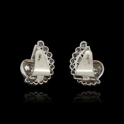Expertissim - Boucles d'oreilles-Expertissim-Paire de boucles d'oreilles  en platine et or, pa