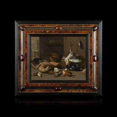 Expertissim - Nature morte-Expertissim-Jan Van KESSEL LE JEUNE. Nature Morte au Brocard e