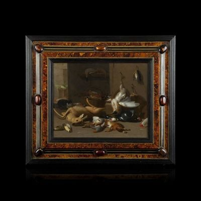 Expertissim - Tableau décoratif-Expertissim-Jan Van KESSEL LE JEUNE. Nature Morte au Brocard e