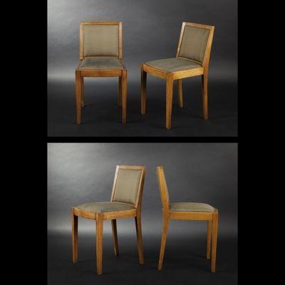Expertissim - Chaise-Expertissim-Suite de six chaises en chêne massif