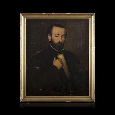 Expertissim - Portrait-Expertissim-ECOLE DU XIXe SIECLE. Portrait d'homme, 1860