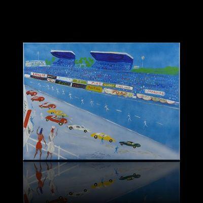 Expertissim - Tableau contemporain-Expertissim-Jean WALLIS. 24 heures du Mans