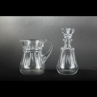 Expertissim - Carafe-Expertissim-BACCARAT. Service de verres en cristal modèle Picc