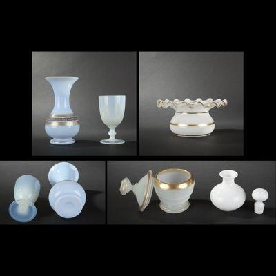 Expertissim - Service de verres-Expertissim-Ensemble d'opalines, fin XIXe siècle