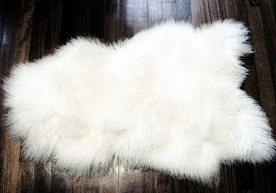 LA CABANE DE L'OURS - Peau de mouton-LA CABANE DE L'OURS-Peau de mouton des monts Tatras blanc
