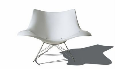 Fredericia - Rocking chair-Fredericia-Stingray blanc