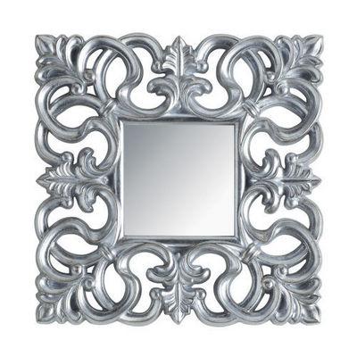 Maisons du monde - Miroir-Maisons du monde-Miroir Rivoli carr� silver