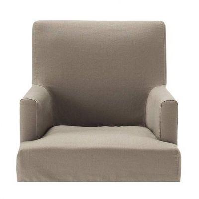 Maisons du monde - Housse de fauteuil-Maisons du monde-Housse taupe fauteuil de bar Lounge