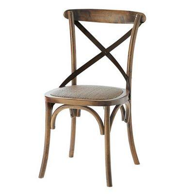 Maisons du monde - Chaise-Maisons du monde-Chaise dos acier Tradition
