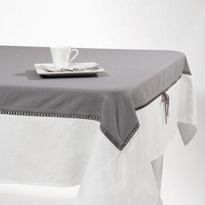 nappe noeud centre gris nappe rectangulaire maisons du monde. Black Bedroom Furniture Sets. Home Design Ideas