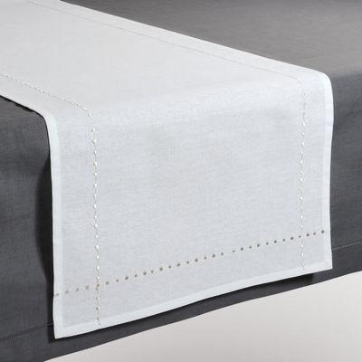Maisons du monde - Chemin de table-Maisons du monde-Chemin de table Myriade blanc