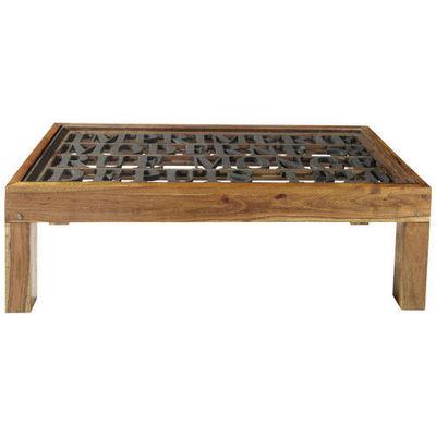 MAISONS DU MONDE - Table basse rectangulaire-MAISONS DU MONDE-Table basse Imprimerie