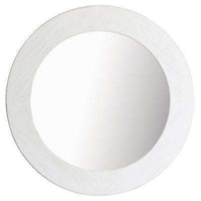 Maisons du monde - Miroir-Maisons du monde-Miroir Natura blanc rond