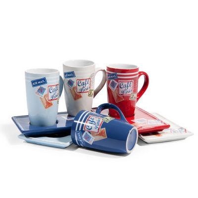 Maisons du monde - Mug-Maisons du monde-Coffret 4 tasses et soucoupes café Postcard