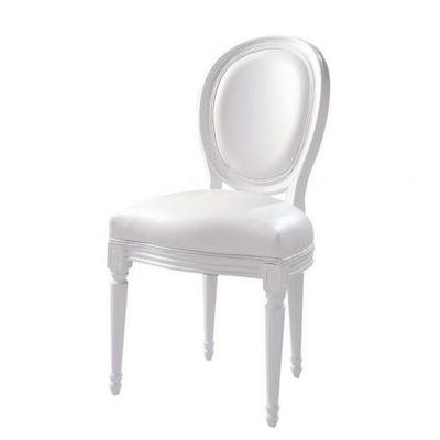 Maisons du monde - Chaise médaillon-Maisons du monde-Chaise blanche Louis