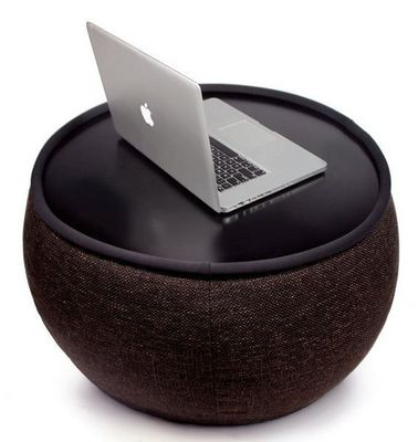 AMBIENT LOUNGE - Pouf-AMBIENT LOUNGE-Versa Table - Hot Chocolate