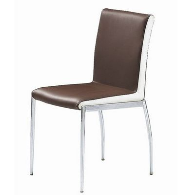 CLEAR SEAT - Chaise visiteur-CLEAR SEAT-Chaises Marron et Blanc Simili Cuir Karmel lot de