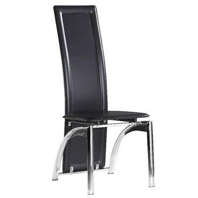 CLEAR SEAT - Chaise-CLEAR SEAT-Chaises Modernes Iris Noir Lot de 6