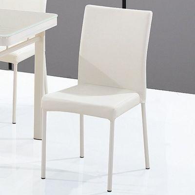 CLEAR SEAT - Chaise-CLEAR SEAT-Chaises Luna Blanc Crème lot de 4