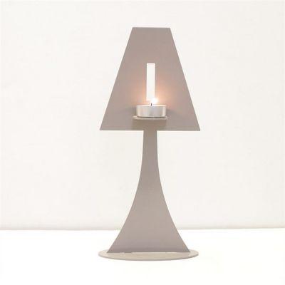 Fenel & Arno - Bougeoir-Fenel & Arno-Bougeoir lampe en m�tal gris Chandelier Electic