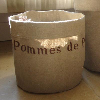 L'atelier D'anne - Sac de rangement-L'atelier D'anne-Sac de rangement en tissu Pommes de pin