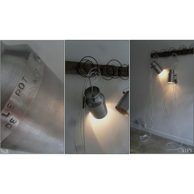 NINA IMAGINE... - Lampe à poser-NINA IMAGINE...-Duo de baladeuses lampe design récup