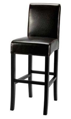 ZAGO - Chaise haute de bar-ZAGO-Chaise de bar lea marron foncé en bycast et boulot