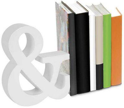 Balvi - Serre-livres-Balvi-Serre-livres and blanc en bois 22,5x19x5cm