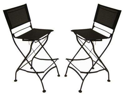 Medicis - Chaise de jardin-Medicis-Chaises hautes en fer forgé et textilène (par 2)