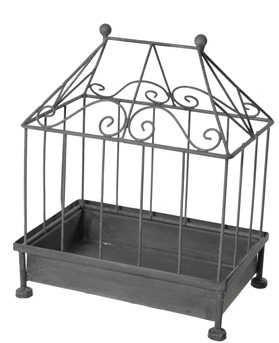 SEMA DESIGN - Cage � oiseaux-SEMA DESIGN-Cage d�corative rectangulaire en m�tal 27,5x18,5x3