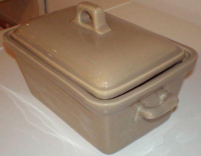 DM CREATION - Terrine-DM CREATION-Terrine foie gras vison en gr�s �maill� 19,5x9x11c