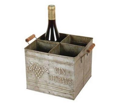Antic Line Creations - Range-bouteilles-Antic Line Creations-Rangement 4 bouteilles en Zinc
