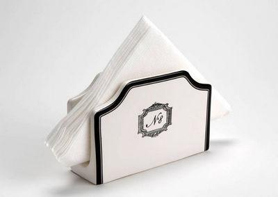 Amadeus - Pochette range-serviette de table-Amadeus-Range serviettes en dolomite grand hôtel 15x5x10cm