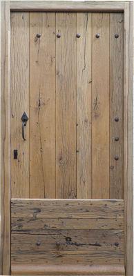 Portes Anciennes - Porte d'entrée pleine-Portes Anciennes-Porte de mas en vieux chêne