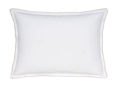 BLANC CERISE - Taie d'oreiller-BLANC CERISE-Taie d'oreiller rectangulaire à volant - percale