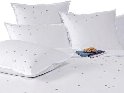 BLANC CERISE - Housse de couette-BLANC CERISE-Housse de couette - percale (80 fils/cm²) - brodée