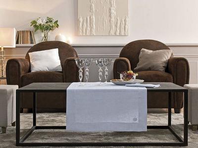BLANC CERISE - Nappe et serviettes assorties-BLANC CERISE-Vis-à-vis - lin déperlant- uni, brodé