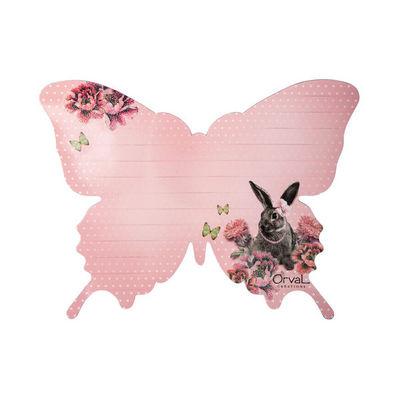 Orval Creations - Magnet électroménager-Orval Creations-Mémo magnétique Papillon Contes du temps passé