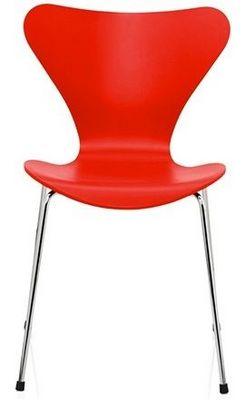 Arne Jacobsen - Chaise-Arne Jacobsen-Chaise Sries 7 Arne Jacobsen 3107 Bois structur Ro
