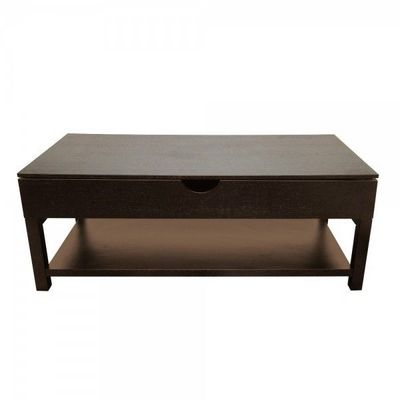 WHITE LABEL - Table basse rectangulaire-WHITE LABEL-Table basse relevable Doha
