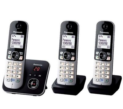 PANASONIC - Téléphone-PANASONIC-Tlphone rpondeur DECT KX-TG6823 trio - noir