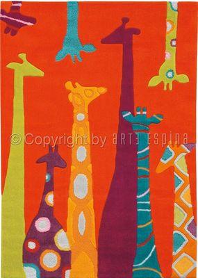 Arte Espina - Tapis enfant-Arte Espina-Tapis Design Enfant - Les Girafes