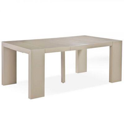 WHITE LABEL - Table de repas rectangulaire-WHITE LABEL-Table console extensible 3 rallonges Melton