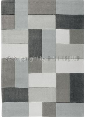 Arte Espina - Tapis contemporain-Arte Espina-Tapis de salon REFLECTIVE 4 gris 140x200 en Acryli
