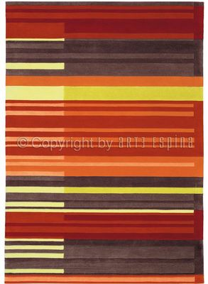 Arte Espina - Tapis contemporain-Arte Espina-Tapis de salon COLOUR CODES rouge 170x240 en Acryl