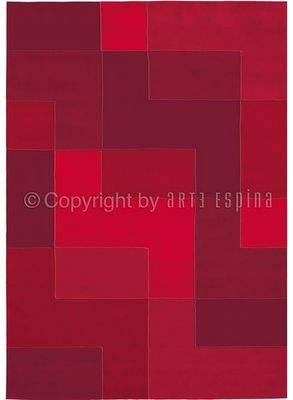 Arte Espina - Tapis contemporain-Arte Espina-Tapis Design Red Logarythm
