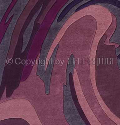 Arte Espina - Tapis contemporain-Arte Espina-Tapis de salon ACTION PAINTING violet 140x200 en A