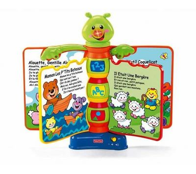 Fisher-Price - Livre enfant-Fisher-Price-Livre interactif comptines