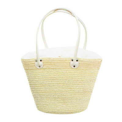 WHITE LABEL - Cabas-WHITE LABEL-Sac panier de sequins doublure avec poche interne