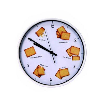 WHITE LABEL - Pendule murale-WHITE LABEL-Horloge Gourmande Biscuits